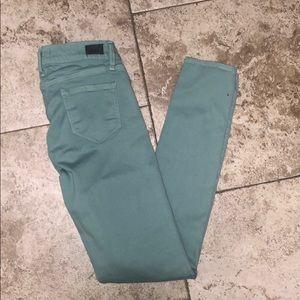 Skinny Sea-Green PAIGE Denim Pants
